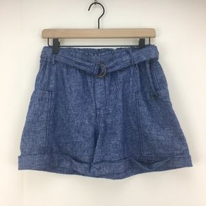 hei hei Anthropologie Chambray Belted Cuffed Short
